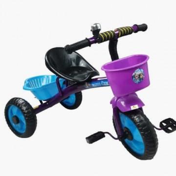 Tricicleta cu pedale, aliaj metalic, 2 cosuri, ghidon ajustabil, 3-5 ani