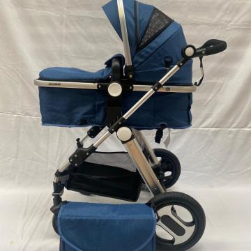 Carucior 2 in 1, cu suspensii, reversibil, cu geanta, T1,bleumarin