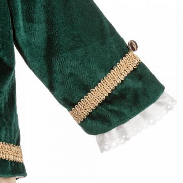 Costum de botez Micul Print, verde, 3 si 6 luni