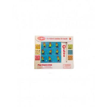Cuburi puzzle 6 in 1 - Activitatile zilnice