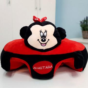 Fotoliu bebe plus sit up cu spatar .Minnie Mouse 60 cm x 60 cm ( latime x lungime)