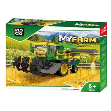 Joc Blocki My Farm Construction, Combină de recoltat, 371 de piese