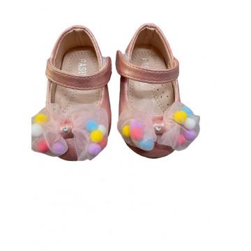 Pantofi fete,roz cu fundita