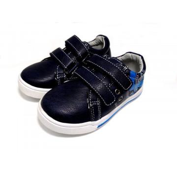 Pantofi sport , piele, talonet, bleumarin, 25-30