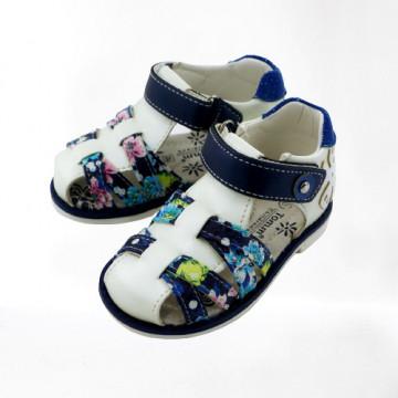Sandale ortopedice fete, interior piele, talonet, 21-26
