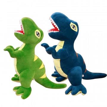 Set 2 Jucarii de plus,Dinozaur T-REX,75CM,albastru/verde