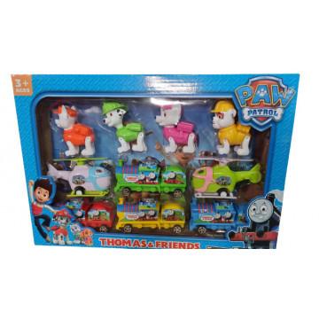 Set 6 figurine Patrula Catelusilor si 4 figurine Thomas si Prietenii, + 3ani