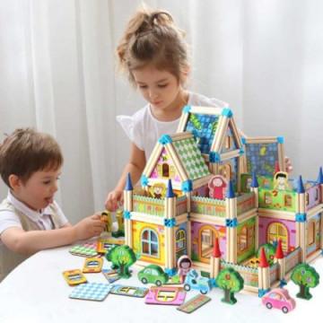 Set De Constructie Din Lemn Casuta Arhitectului