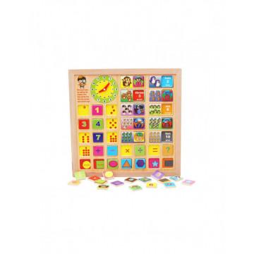 Tabla educativa multifunctionala cu piese magnetice si ceas