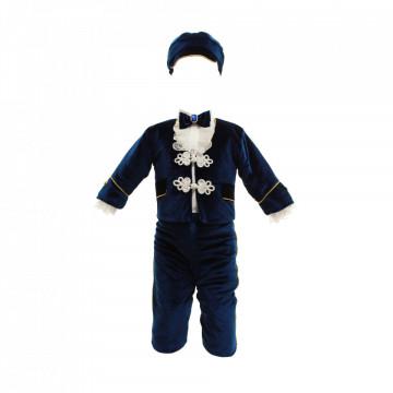 Costum botez model Micul Imparat bleumarin