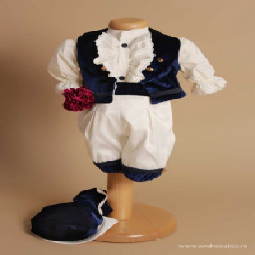 Costum Micul Marchiz – bleumarin, pantalon 3/4, 4 piese