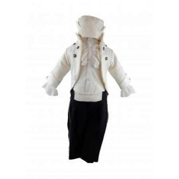 Costum pentru botez Regal, crem