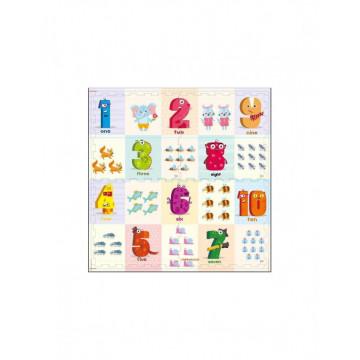 Covor puzzle EVA piese mari - Cifre si animale