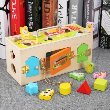 Cub educativ cu forme incuie descuie Animal lock Box