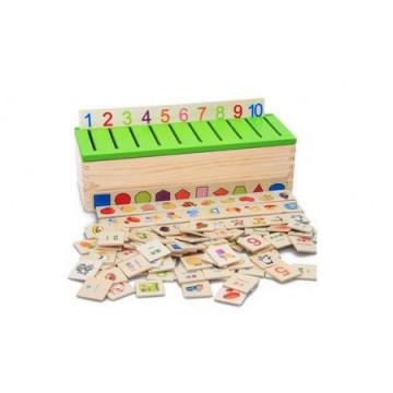 Joc Asociere Si Sortare Montessori Cu 88 Piese Lemn