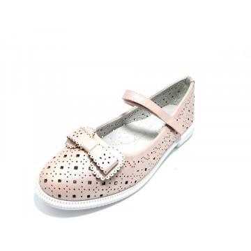 Pantofi fete, cu interior piele, nude, 31-35