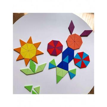 Puzzle Montessori lemn octogon Rainbow