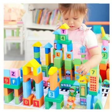 Set 100 Cuburi De Construit Orasul Inteligent