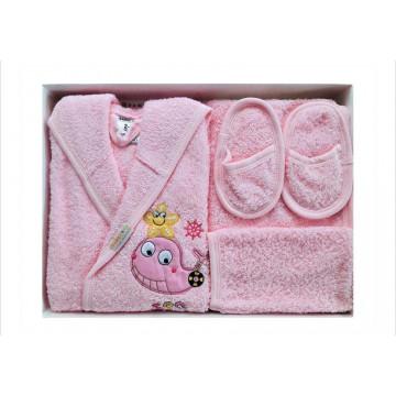 Set de baie pentru copii 2-3 ani,4 piese,Ramel,roz