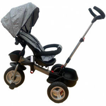 Tricicleta HUG S180 cu scaun reversibil, pozitie de somn, GRI