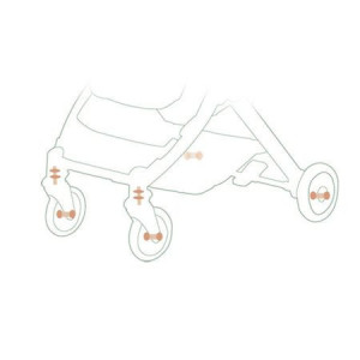 Carucior sport compact, pliere gen troller, pretabil pentru avion, HUG Baby Stone C8, albastru