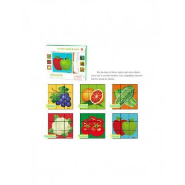 Cuburi puzzle 6 in 1 - Fructe