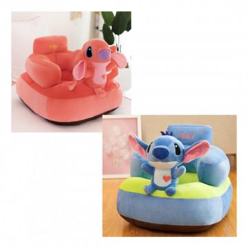 Fotoliu bebe din plus cu spatar - Lilo si Stitch