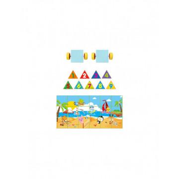 Joc magnetic tip Puzzle 3D 29 piese