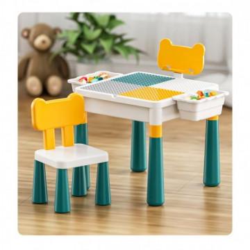 Masuta lego cu scaunel – 2 in 1