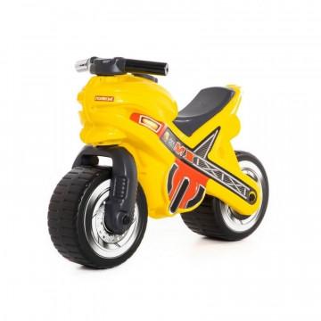 Motocicleta Fara Pedale, MX-ON, Galbena, 70x30x49,3 Cm, Polesie