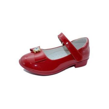 Pantofi lacuiti, cu interior piele, rosii