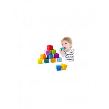 Set 10 Cuburi Siliconate Moi, pentru dentitie sau baita