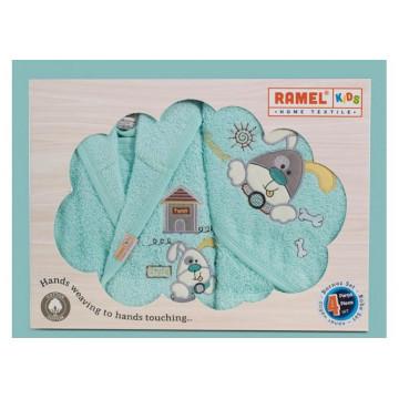 Set de baie pentru copii 2-3 ani,4 piese,Ramel,verde