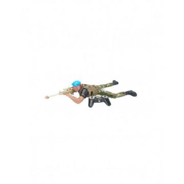 Soldat cu pusca din armata cu telecomanda, acumulatori si incarcator, 2.4G