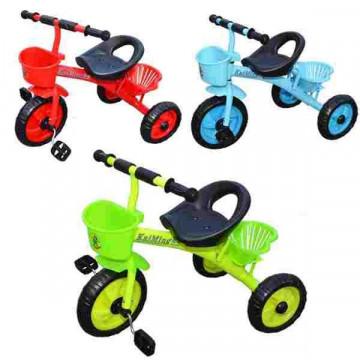 Tricicleta metalica cu cos, 3 culori