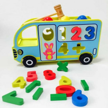 Autobuz Jucarie Din Lemn Pentru Copii