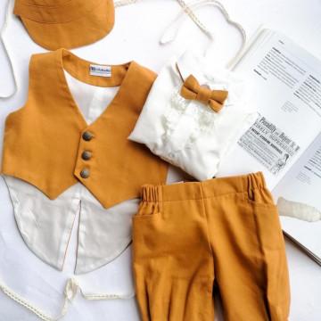 Costum elegant Carol de baieti,marimi 2-4,5-8 luni,5 piese.