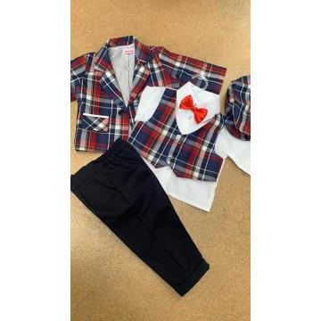 Costum elegant de baieti,marimi 3,6,9,12luni,6 piese.