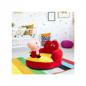 Fotoliu bebe din plus cu spatar - Purcelusa Peppa Pig