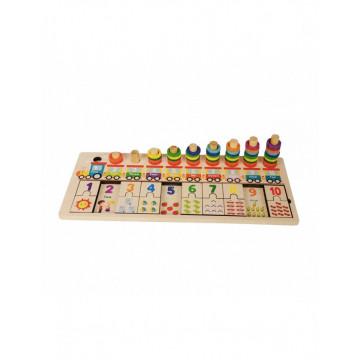 Joc tip Montessori Logarithmic, Invata sa numeri prin perechi