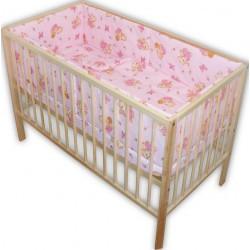 Lenjerie patut bebe cu 5 piese ursulet,roz