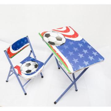 Masuta si scaunel copii, pliabile – Fotbal