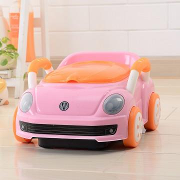 Olita pentru copii, tip masinuta, roz