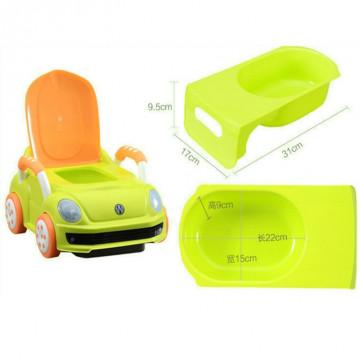 Olita pentru copii, tip masinuta, verde