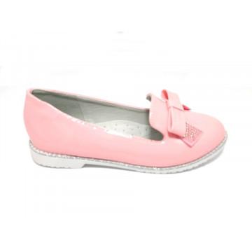 Pantofi eleganti, piele, lacuiti, roz deschis, 25-35