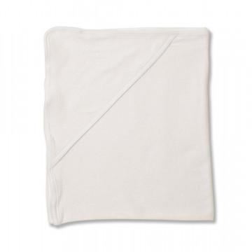 Prosop de baie bebe, cu gluga, alb, 80*90 cm, potrivit pentru brodat