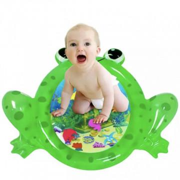 Saltea cu apa pentru bebelusi 93 x 77 cm - broscuta saltareata
