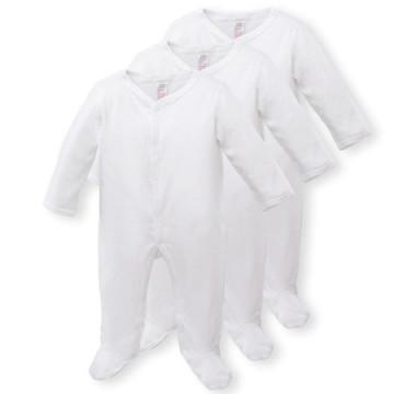 Set 3 salopete bebelusi, culoare alb