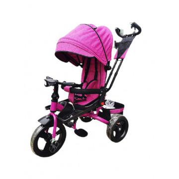 Tricicleta 5099EVA cu pozitie de somn, scaun reversibil, far cu lumini si muzica, Mov
