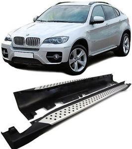 Imagens Estribos BMW X6 E71 Degraus em Aluminio BMW X6 E71 EMBALADEIRAS X6 E71